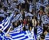 Des supporters du parti du premier ministre conservateur Antonis Samaras.