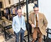 Albert Cohen et Paul Teboul. Propriétaires de L'Uomo