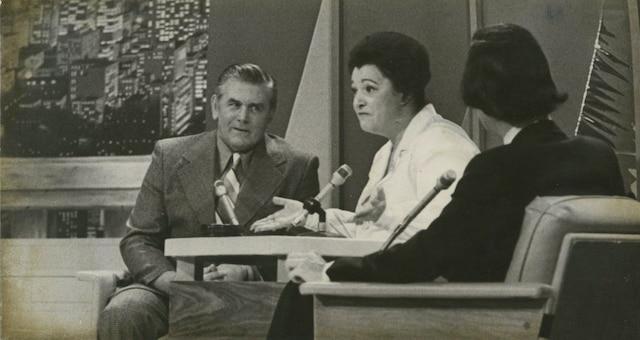 Maurice Richard, Lise Payette et Jacques Fauteux.
