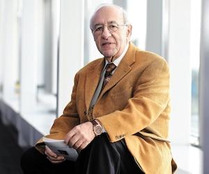 Le PDG du Salon international du livre de Québec, Philippe Sauvageau, a été photographié mercredi dernier au Centre des congrès, lieu de l'événement.