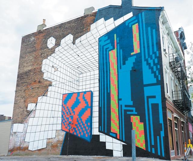 <b><i>HYPRSPC• PARALLEL</i></b><br /> <b>Artiste de l'Espagne</b><br /> L'univers du néon au sein de la science-fiction et des jeux d'arcade. Une manipulation des perspectives. Œuvre de Demsky