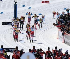 Ambiance Coupe du monde de ski sur les Plaines, Quebec, 18 mars 2017. PASCAL HUOT/JOURNAL DE QUEBEC/AGENCE QMI