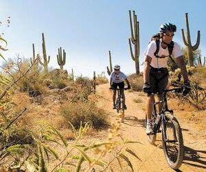 Vélo dans le désert de Sonora.