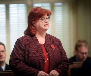 Élue pour la première fois lors d'une élection partielle en 1996, Nicole Léger est actuellement porte-parole de l'opposition officielle pour le Conseil du trésor.