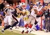 Mario Manningham, des Giants de New York, a réalisé LE jeu du Super Bowl.