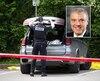 C'est devant son véhicule, stationné devant la centrale de police du parc Victoria, à Québec, que Louis Rochette (en mortaise) s'est enlevé la vie par armes à feu.