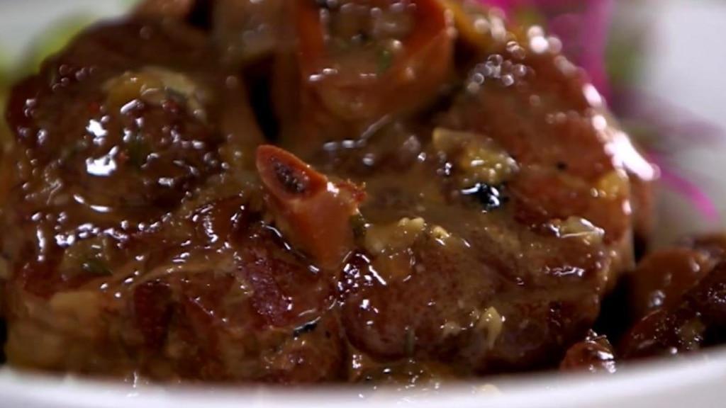 Osso bucco de porc aux canneberges