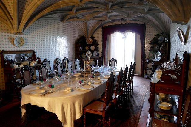 La salle à manger du Palais de Pena.