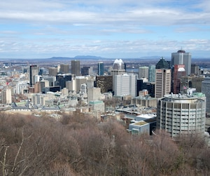 Vue Montréal du Chalet du Mont-Royal