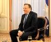 François Legault s'est rendu à la Délégation générale du Québec, hier, dans le cadre de son premier voyage officiel en tant que premier ministre.