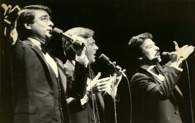 Michel Louvain, Pierre Lalonde et Donald Lautrec, les trois «L» à la Place des Arts, 1981 PHOTO LES ARCHIVES / LE JOURNAL DE MONTREAL
