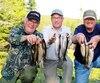 Un groupe de pêcheurs heureux qui ont connu du succès sur les lacs du secteur à Noël. De gauche à droite : Michel Simard, le directeur Sylvain Boucher, Richard Néron et Gilles Dubois.