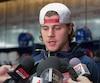 Nathan Beaulieu (28) des Canadiens Bilan Fin de saison Canadiens au Complexe sportif Bell de Brossard avril 2017 BEN PELOSSE/LE JOURNAL DE MONTRÉAL/AGENCE QMI