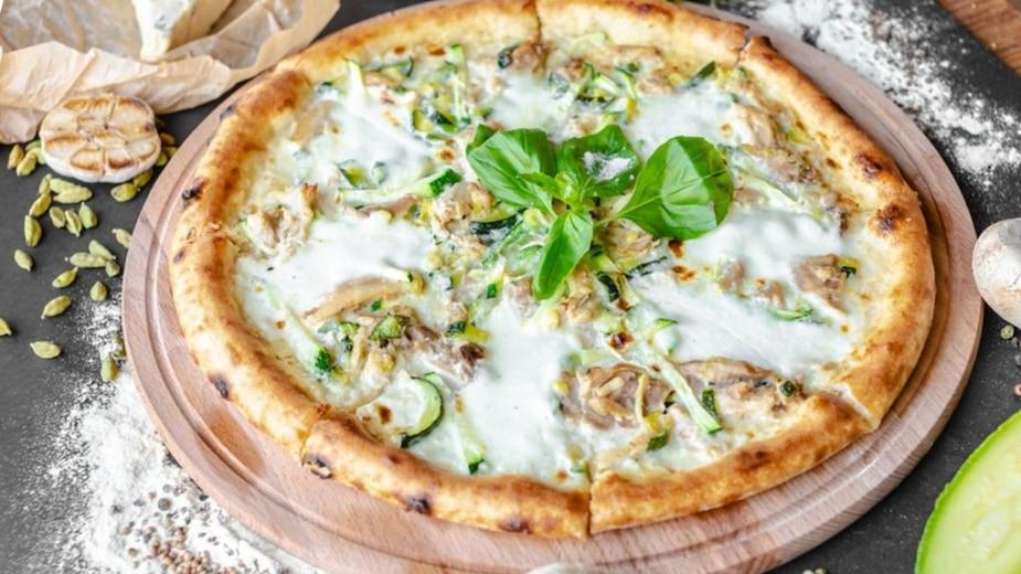 Image principale de l'article Pizza blanche aux crevettes