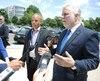 Le premier ministre Philippe Couillard a tenu un point de presse en marge de sa mission économique à Washington.