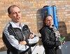 Jimmy Veilleux et Shirley Dumas sont les premiers utilisateurs officiels de la borne de recharge pour voiture électrique du Carrefour Saint-Georges.