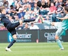 Maximiliano Urruti n'a généré aucune chance de marquer contre Alejandro Bedoya et les autres joueurs de l'Union.