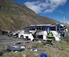 Le car, propriété d'une société colombienne, avait quitté la ville de Neiva en Colombie mardi et roulait vers Quito.