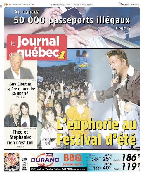 Un autre des passages marquants de Lapointe au Festival d'été, le 6 juillet 2006.