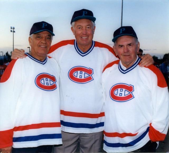 Bernard Geoffrion, Jean Béliveau et Maurice Richard aimaient jouer à la balle lors des nombreuses tournées du CH.