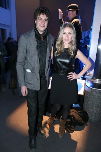 Jérome Charlebois et sa conjointe Ingrid Falaise à la première du nouveau spectacle de Messmer.