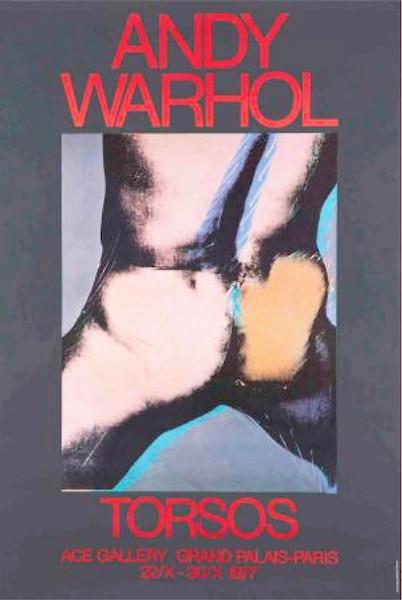 <i>Torsos</i></br> Andy Warhol, 1977</br> Ace Gallery   Grand palais Paris</br> 60' X 40'