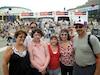 La famille Paré-Defayette à la Place des Festivals. Ils sont venus de Plattsburgh dans l'État de New York pour quelques jours de détente musicale.