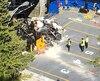 Un véhicule motorisé s'est écrasé sur un traversier de la traverse Tadoussac–Baie-Sainte-Catherine après un vol plané par-dessus la rampe d'accès, le lundi 24 juin 2019. PHOTO JEAN-FRANÇOIS DÉRY/AGENCE QMI