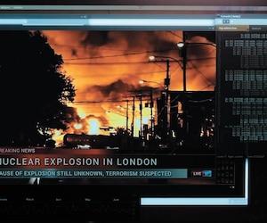 Les images de la tragédie de Mégantic ont été utilisées pour illustrer une possible attaque terroriste à Londres dans le neuvième épisode de la troisième saison de la série de Netflix Les voyageurs du temps.