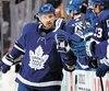 Tomas Plekanec a marqué son premier but dans l'uniforme des Maple Leafs jeudi, dans la défaite de 3à1 des siens face aux Bruins de Boston, dans le match numéro 4 de la série.