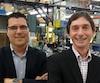 Les propriétaires de CVTech Alain Charest et Christian Mercier visent une croissance de 50 % d'ici quatre ans.