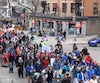 Les manifestants ont sommé le gouvernement Couillard «d'arrêter le saccage».