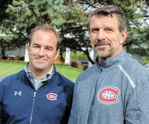 Geoff Molson et Marc Bergevin ont commenté l'échange de Max Pacioretty lors du tournoi de golf annuel de l'équipe, lundi matin à Laval.