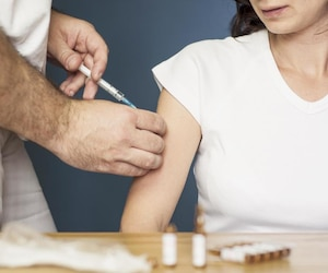 Bloc vaccin seringue santé