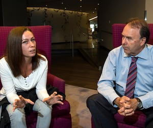 Martine Legault a confié que l'avocat Marc Bellemare (à droite) est la seule personne de sa vie à avoir pris sa défense.