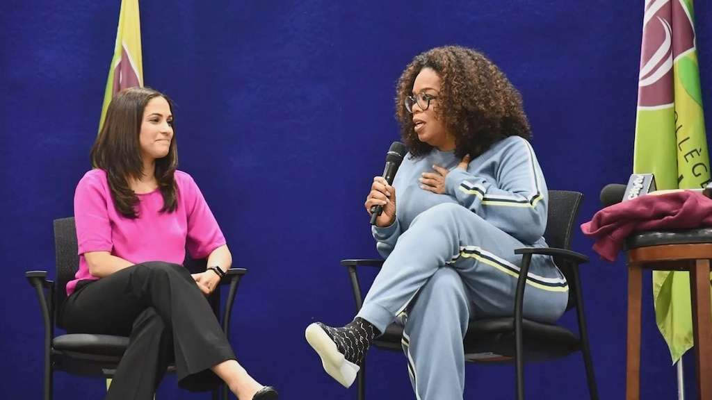 Oprah Winfrey rend visite à une école de Montréal