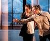 L'acteur Sébastien Brottet-Michel et le metteur en scène Robert Lepage. lors des répétitions de Kanata.