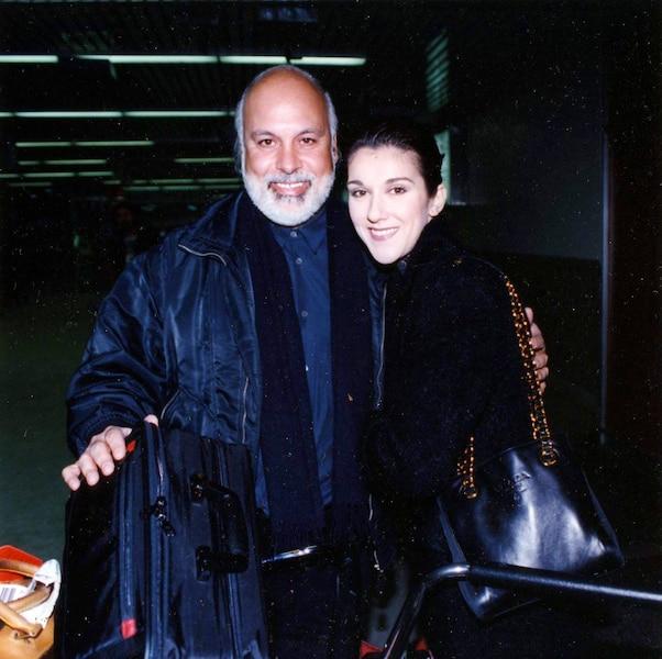 René Angelil et Céline Dion. Décembre 1994. photo Luc Lafrance / Le Journal de Montréal.
