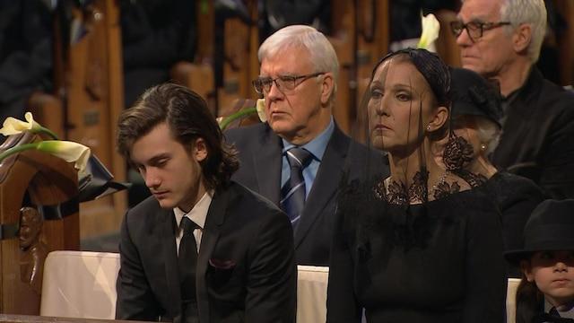 Ambiance à l'intérieur lors des funérailles de René Angelil, célébrées ce vendredi après-midi 22 janvier 2016, à la Basilique Notre-Dame, à Montréal.