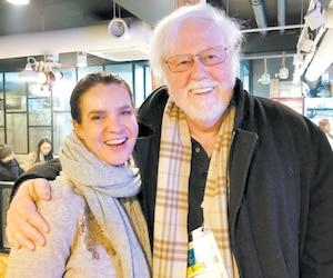 Une belle rencontre. J'ai eu le plaisir de croiser Katarina Witt, la reine des Jeux de 1984 et de 1988.