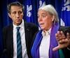 Les députés de Québec Solidaire Amir Khadir et Manon Massé.