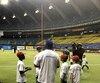 Clinique de baseball au Stade olympique.