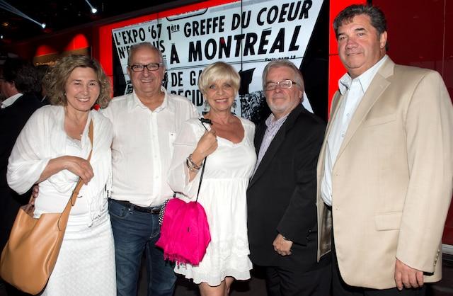 Les dirigeants Johanne Lafrance et Claude Lalumière, de  Canada spa dépôt, sont accompagnés  de Manon Bélanger et  Pierre Racicot, Destination Design.