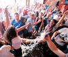 La bière a giclé au bar L'Barouf lorsque la France a compté le seul but du match.