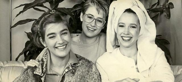 1987 - Marie-Soleil Tougas, Valerie Gagné et Anne Bédard.