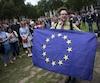 Des manifestants sont débarqués dans les rues de Londres samedi, drapeau de l'Union européenne et pancartes en main, pour protester contre le résultat du référendum remporté par le camp du «Leave».
