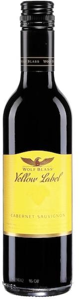 Cabernet Sauvignon  Wolf Blass  Yellow Label Australie, 13,8% 109 calories 3,2g de sucre résiduel par litre