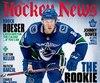 La couverture de la dernière édition du magazine «The Hockey News».