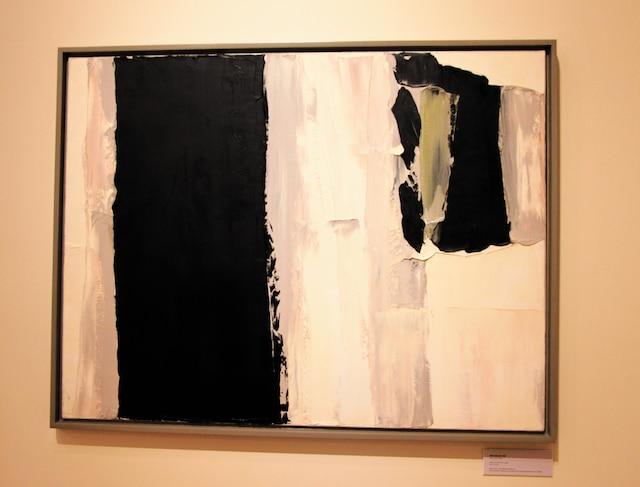 Le blanc et le noir deviendrontprédominants dans l'œuvre de Borduas, comme on peut le voir sur Sans titre (no28) peinte à Paris en 1959.