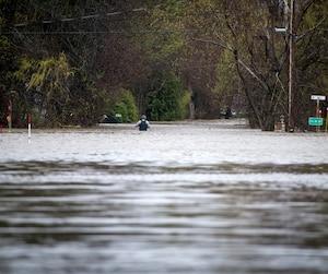 Crue printanière «historique» en 2017 causant d'énormes inondations sur le territoire de la Ville de Rigaud, en Montérégie.